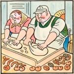 Pekař peče housky